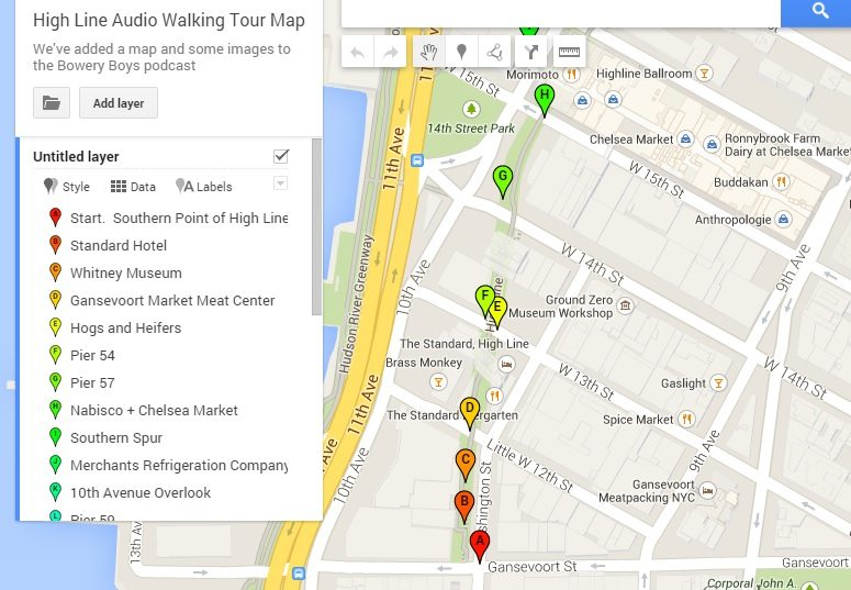 High Line Map and Self Guided Tour – Manhattan Map Tourist