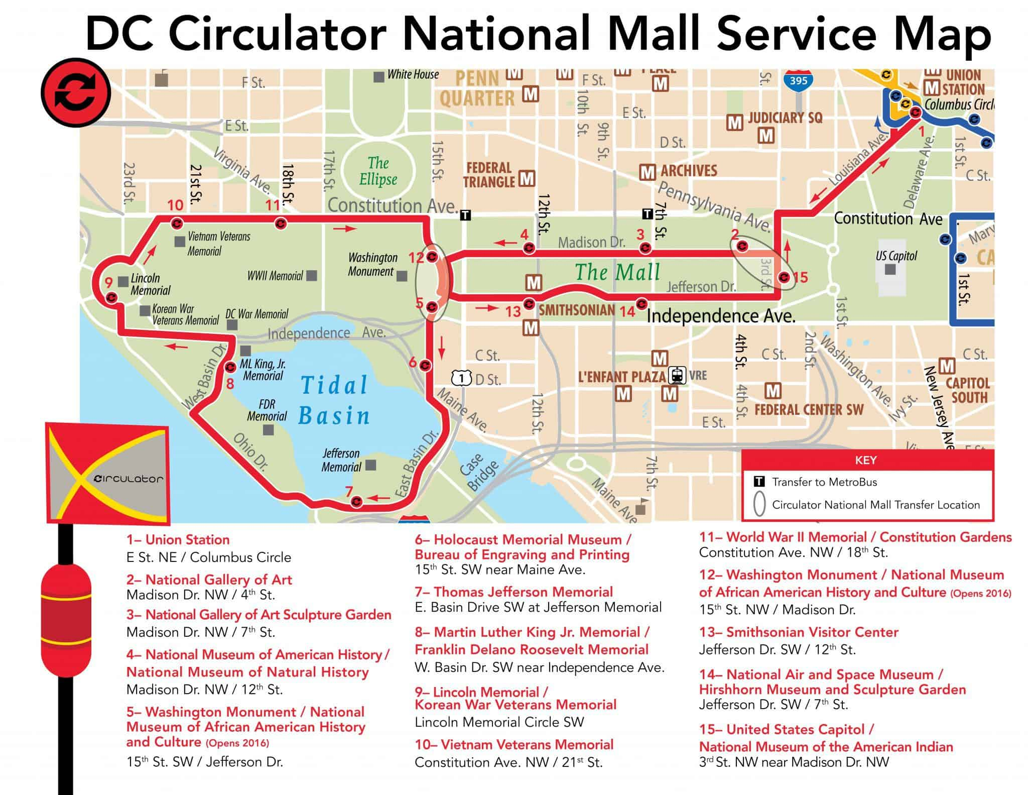 free washington dc bus tours