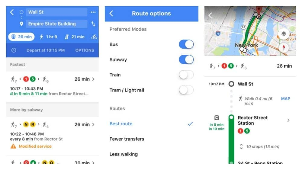 Google Maps Subway App