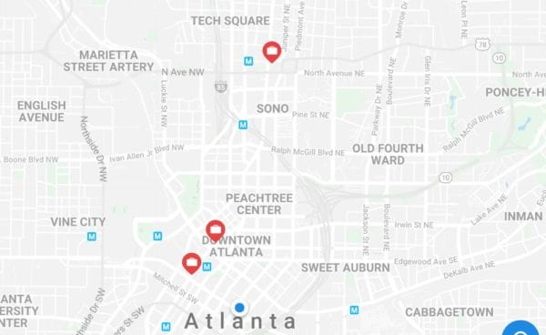 Atlanta Vertoe Luggage Storage Locations