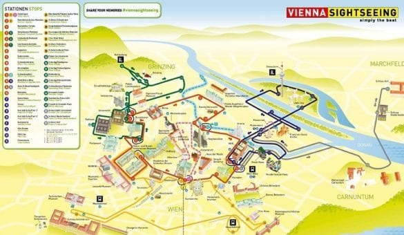 Vienna Sightseeing City Map Route
