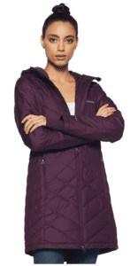 long purple jacket