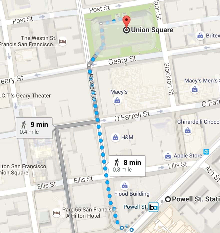 How to Get from San Francisco Airport to Downtown Powell Street BART Directions