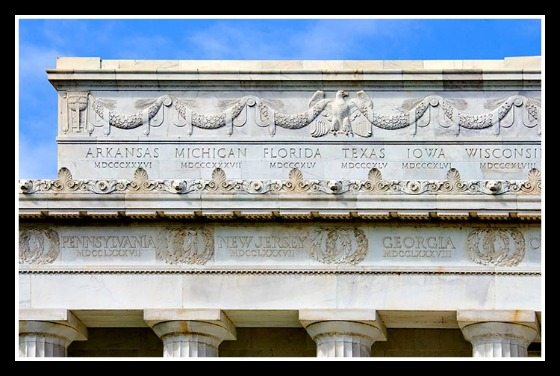 Lincoln Memorial Frieze States