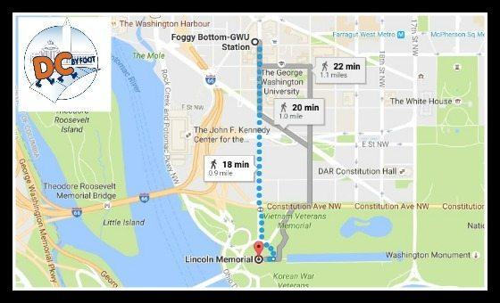 Nearest Metro Station to Lincoln Memorial