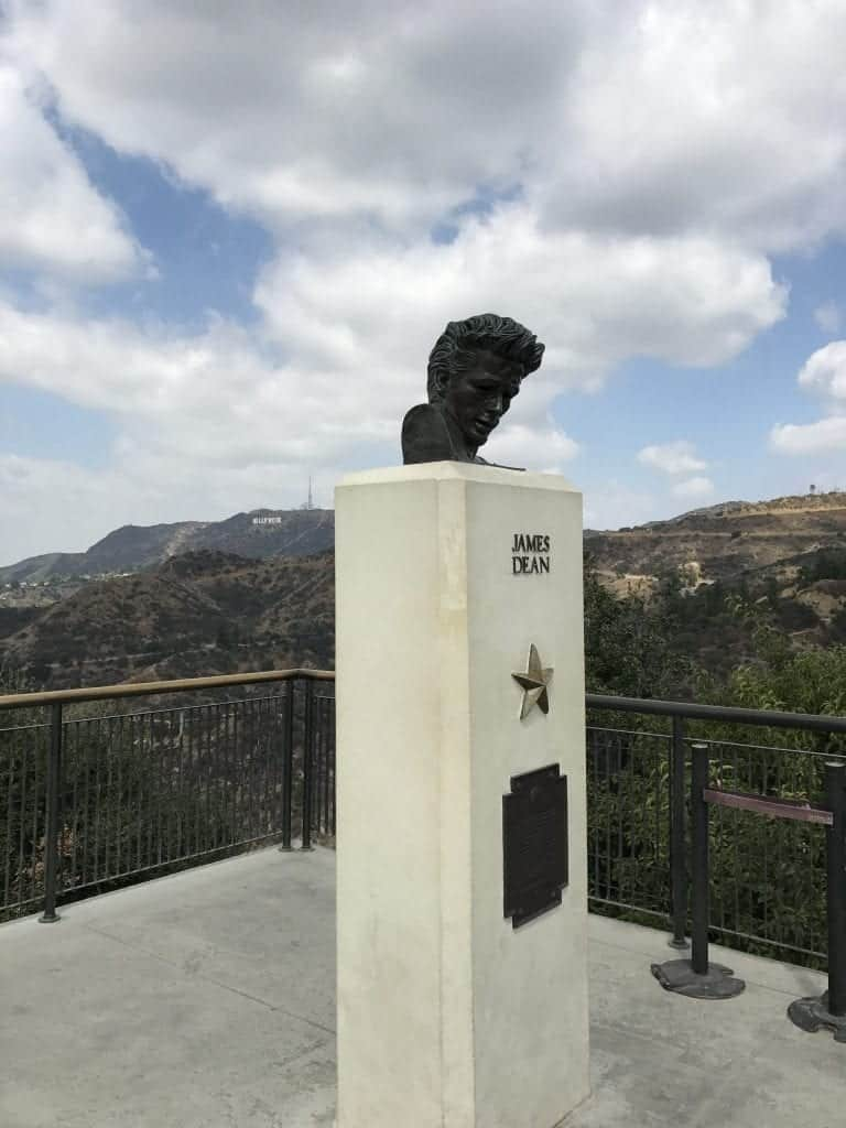 James Dean and Hollywood Sign from Griffith Observatory
