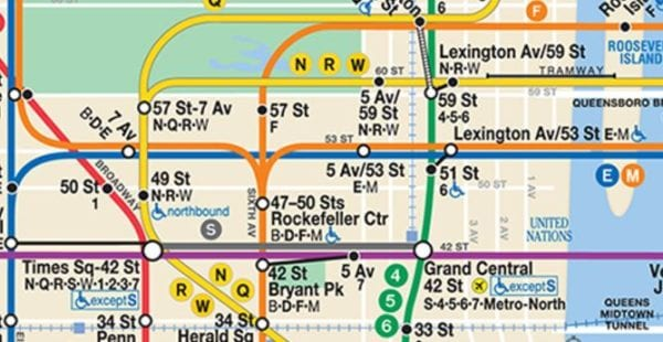 Official Midtown Subway Map